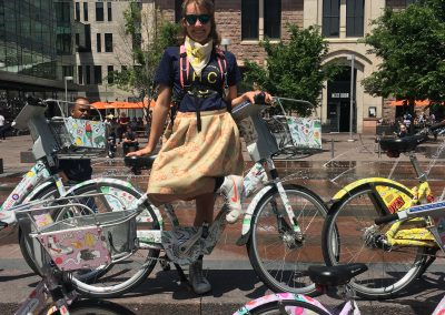 Happy City wrapped Bcycle Bikes by Dayna Saffertstein